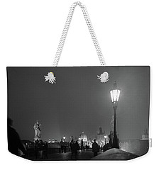 Weekender Tote Bag featuring the photograph Charles Bridge At Night by Mark Duehmig