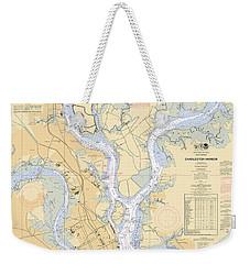 Charleston Harbor, Noaa Chart 11524 Weekender Tote Bag
