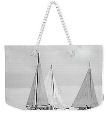 Weekender Tote Bag featuring the photograph Chesapeake Bay Skipjacks by Mark Duehmig