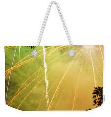 Yellow Fireworks Weekender Tote Bag