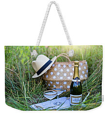 Weekender Tote Bag featuring the photograph Chic Picnic by Top Wallpapers