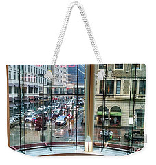 Weekender Tote Bag featuring the photograph Chicago Streets by Rosanne Licciardi