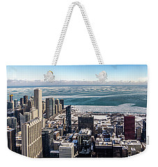 Chicago View Angled Weekender Tote Bag