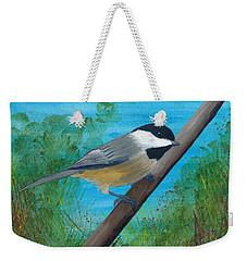 Chickadee 2 Weekender Tote Bag