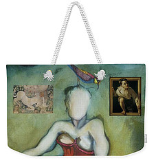 Chin Chin With An Imaginary Bird On Her Head Weekender Tote Bag