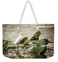 Chinese Egret Weekender Tote Bag