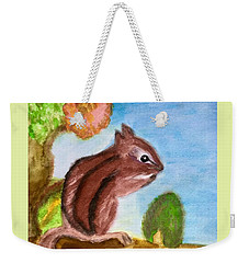 Chipmunk By Dee Weekender Tote Bag