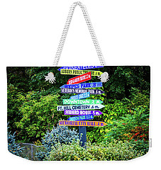 Weekender Tote Bag featuring the photograph Choices - Finger Lakes, New York by Lynn Bauer