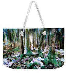 Weekender Tote Bag featuring the digital art Chorus Of Trees by Edmund Nagele