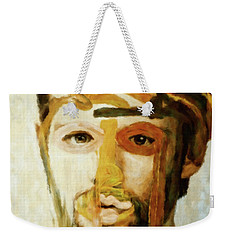 Weekender Tote Bag featuring the mixed media Christian by Susan Maxwell Schmidt