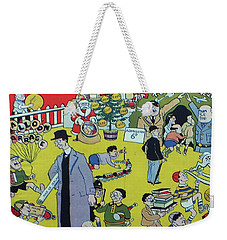 Weekender Tote Bag featuring the painting Christmas 1938 Dublin Opinion by Misc