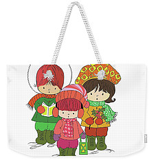 Christmas Angels Weekender Tote Bag