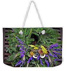 Weekender Tote Bag featuring the photograph Christmas Blues by Don Moore