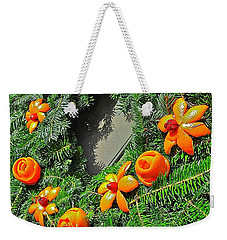 Weekender Tote Bag featuring the photograph Christmas Citrus by Don Moore