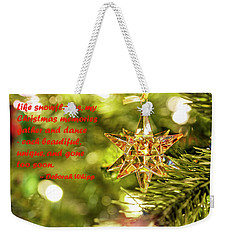 Weekender Tote Bag featuring the photograph Christmas Is Like Snowflakes by Kay Brewer