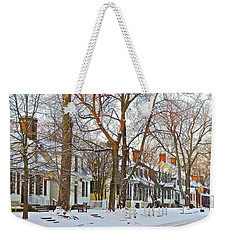 Weekender Tote Bag featuring the photograph Christmas Snow by Don Moore