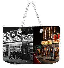 Weekender Tote Bag featuring the photograph City - Chicago Il - Nightlife At The Regal Theater 1941 - Side By Side by Mike Savad