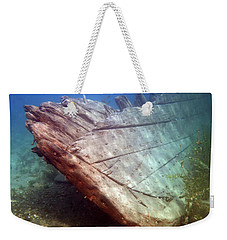 Weekender Tote Bag featuring the photograph City Of Grand Rapids Shipwreck Ontario Canada 8081801c by Rick Veldman