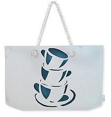 Weekender Tote Bag featuring the mixed media Clean Up by Phyllis Howard
