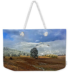 Weekender Tote Bag featuring the photograph Clearing Storm by Dan Miller