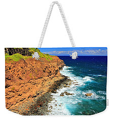 Cliff On Pacific Ocean Weekender Tote Bag