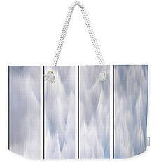 Weekender Tote Bag featuring the photograph Cloud Abstract by Angie Tirado