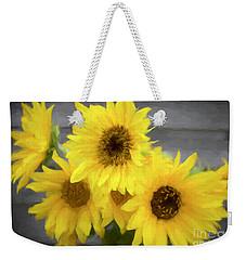 Cloud Of Sunflowers Weekender Tote Bag