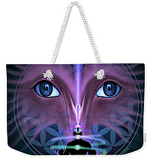 Weekender Tote Bag featuring the digital art Cloud Services by Vincent Autenrieb