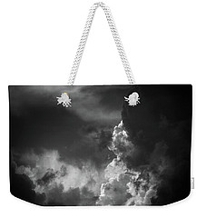 Weekender Tote Bag featuring the photograph Clouds 6 In Black And White by Greg Mimbs