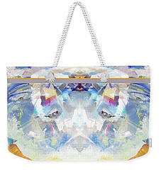 Weekender Tote Bag featuring the painting Clouds by John Jr Gholson