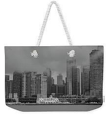 Cloudy Skyline Weekender Tote Bag