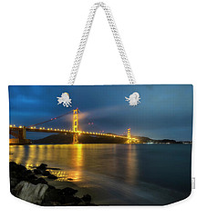 Weekender Tote Bag featuring the photograph Cold Night- by JD Mims
