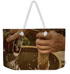 Weekender Tote Bag featuring the photograph Coleslaw Maker by Guy Whiteley