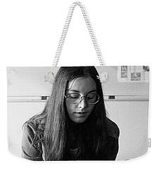 College Student With Octagonal Eyeglasses, 1972 Weekender Tote Bag