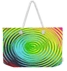 Weekender Tote Bag featuring the photograph Color Fabric Warp by SR Green