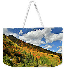 Color In The Spotlight At Red Mountain Pass Weekender Tote Bag