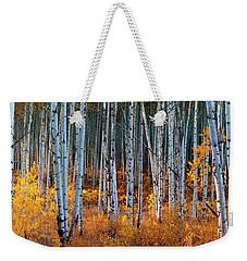 Weekender Tote Bag featuring the digital art Colorado Autumn Wonder Panorama by OLena Art Brand