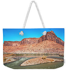 Weekender Tote Bag featuring the photograph Colorado River At Salt Wash by Andy Crawford