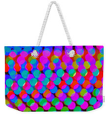 Colored Lights Weekender Tote Bag