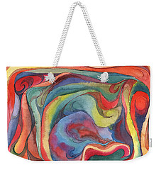 Weekender Tote Bag featuring the painting Colorful Abstract Palette 2 by Dobrotsvet Art
