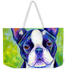 Colorful Boston Terrier Dog Weekender Tote Bag