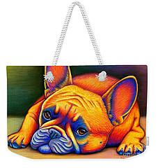 Colorful French Bulldog Weekender Tote Bag