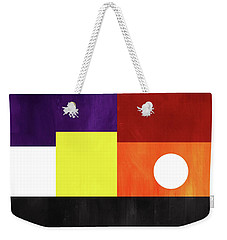 Weekender Tote Bag featuring the mixed media Colorful Geometric Abstract 3- Art By Linda Woods by Linda Woods