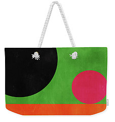 Weekender Tote Bag featuring the mixed media Colorful Geometric Abstract 4- Art By Linda Woods by Linda Woods