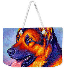 Colorful German Shepherd Dog Weekender Tote Bag