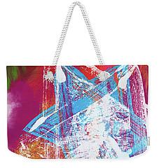 Weekender Tote Bag featuring the mixed media Colorful Hanukkah Art Star-  Art By Linda Woods by Linda Woods