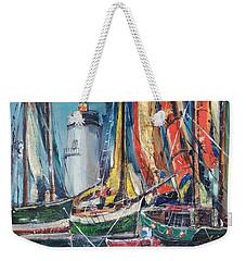 Colorful Harbor Weekender Tote Bag