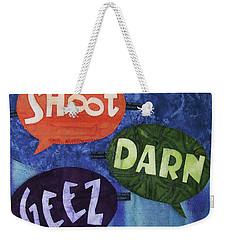 Colorful Language Weekender Tote Bag
