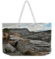 Colorful Overhang In Colorado National Monument Weekender Tote Bag