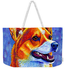 Colorful Pembroke Welsh Corgi Dog Weekender Tote Bag